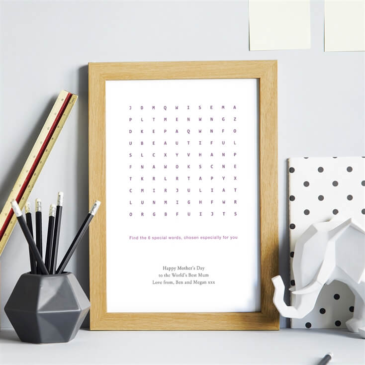 Personalised Word Search Print