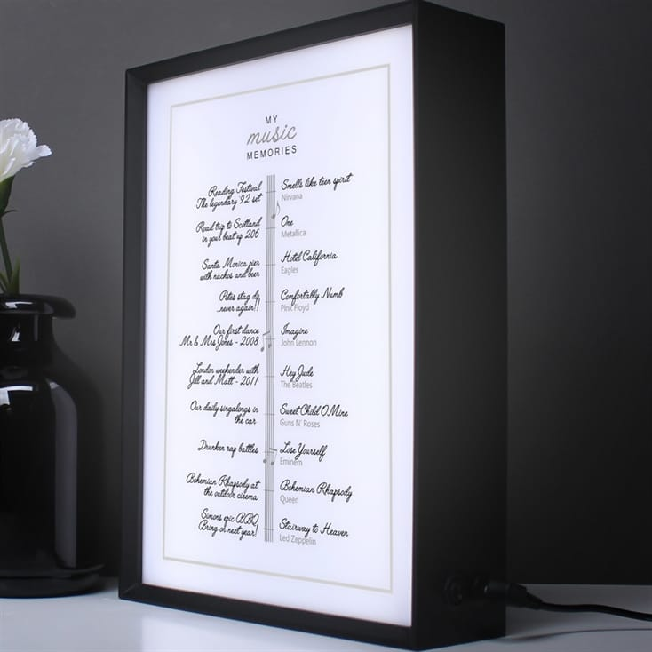 Personalised Our Music Memories Lightbox