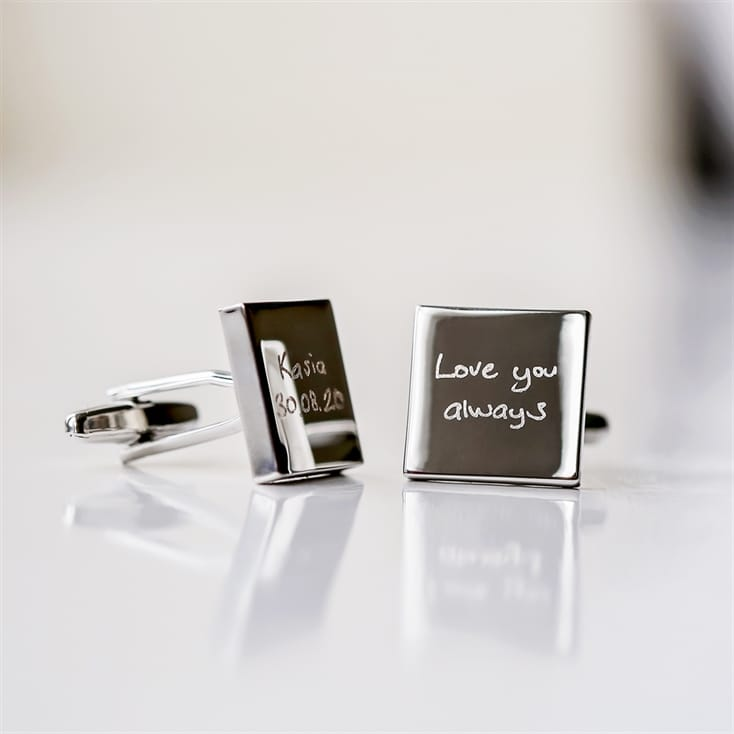 Personalised Cufflinks with Handwriting Engraving