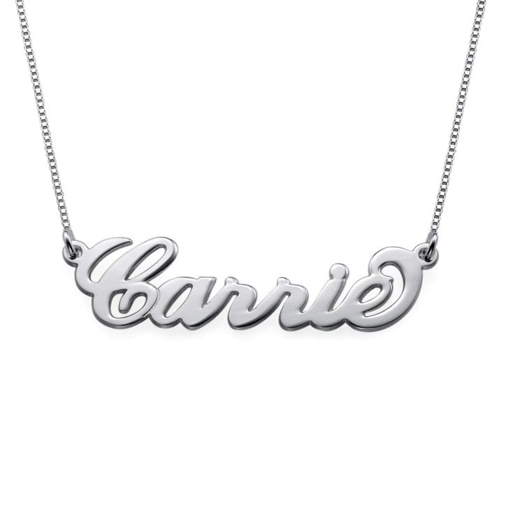 Small Sterling Silver Personalised Name Necklace