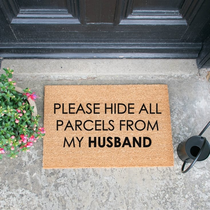 Hide Parcels From Husband Doormat