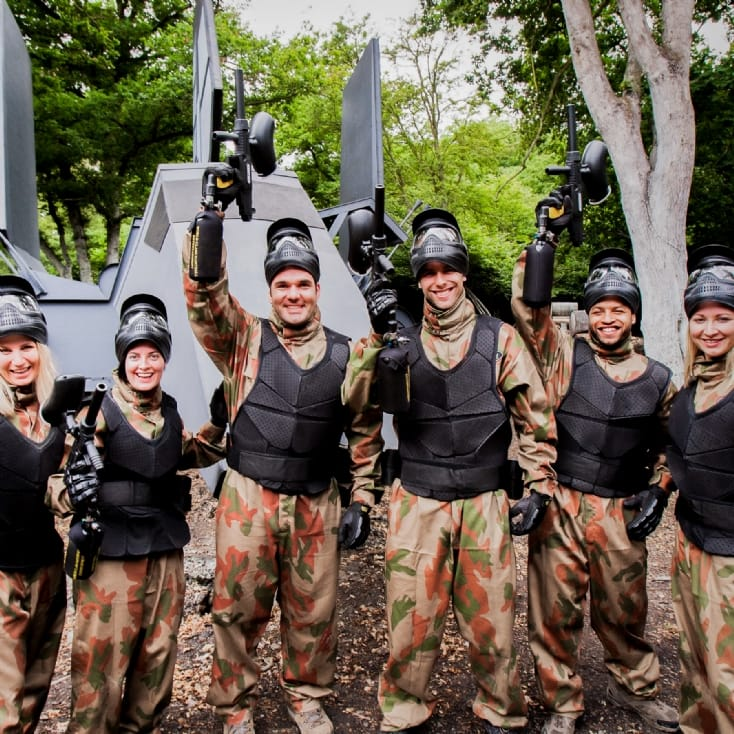 Group Paintball Entrance For Eight