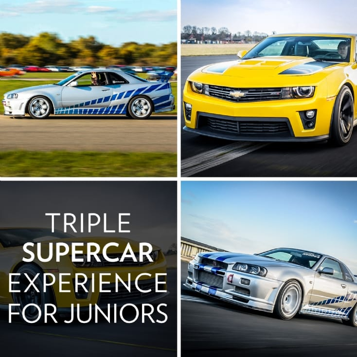 Triple Supercar Driving Experience for Juniors