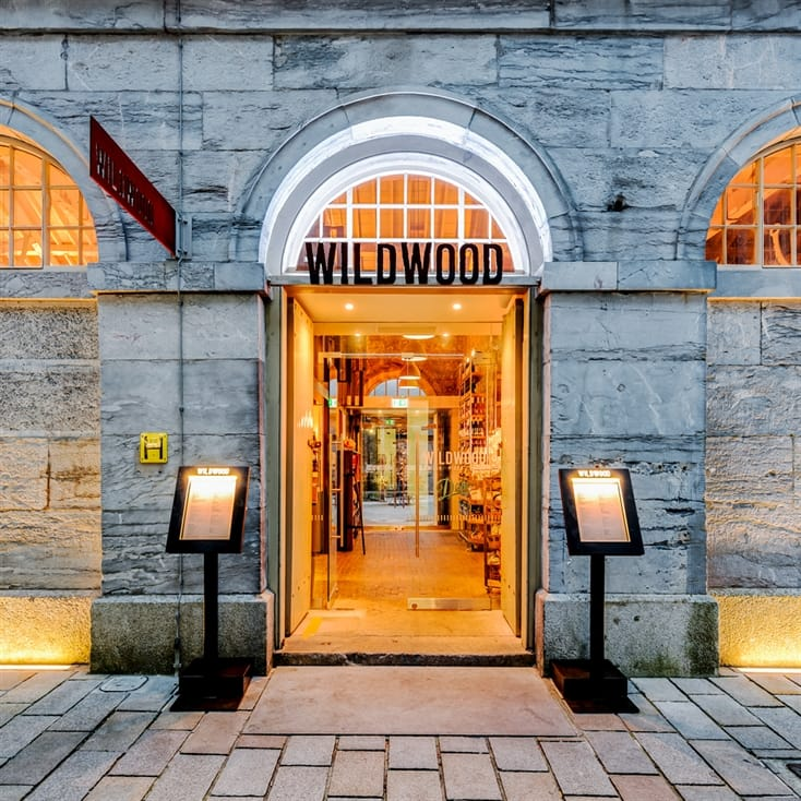 Three Course Meal and a Glass of Wine at Wildwood for Two