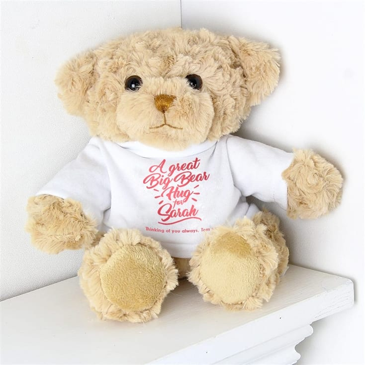 Personalised Bear Hug Teddy