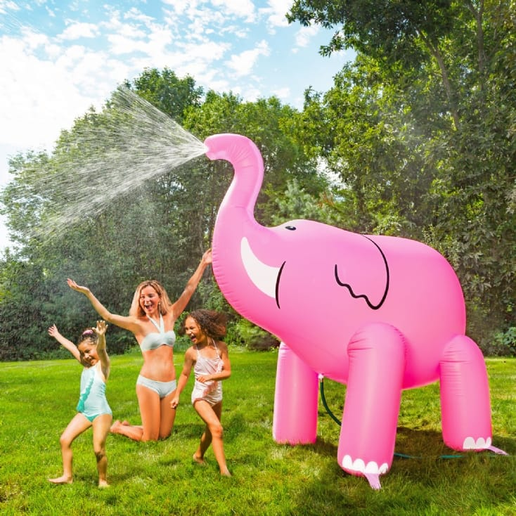 Ginormous Pink Elephant Yard Sprinkler