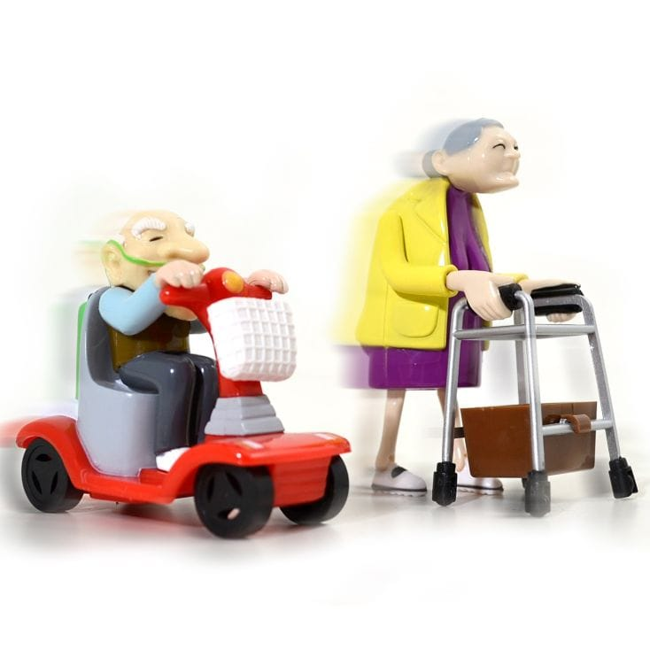 Racing Granny and Grandad Wind Up Toys