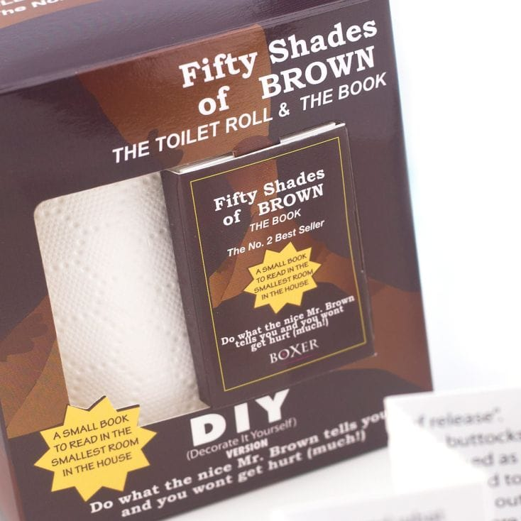 50 Shades of Brown Book and Toilet Paper