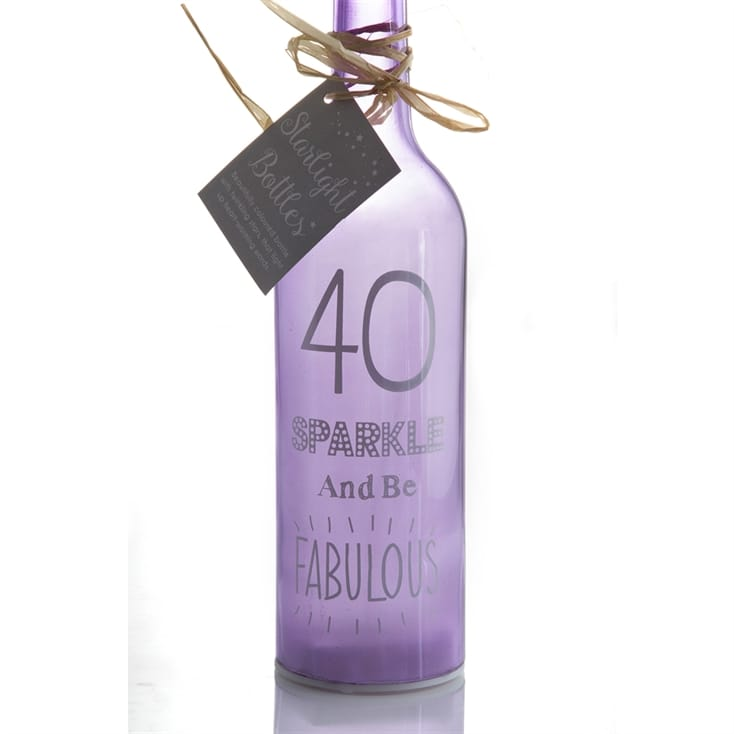 40th Birthday Starlight Bottle
