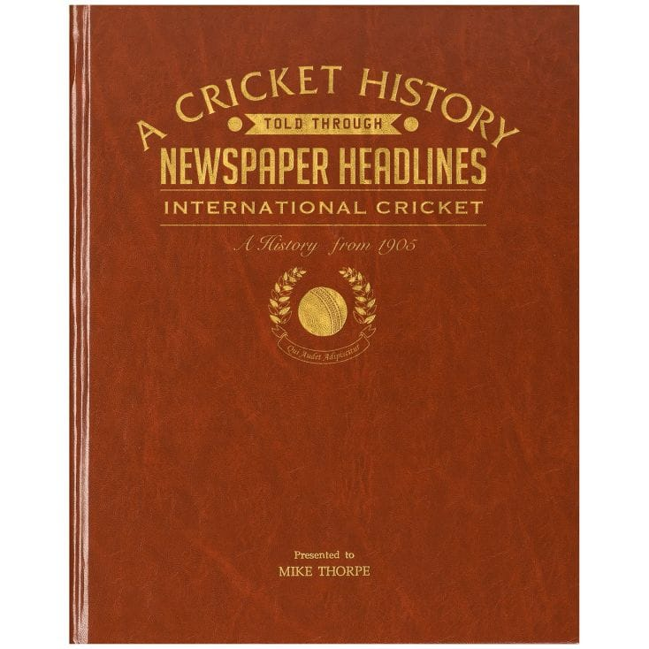 Personalised Book Of Cricket History