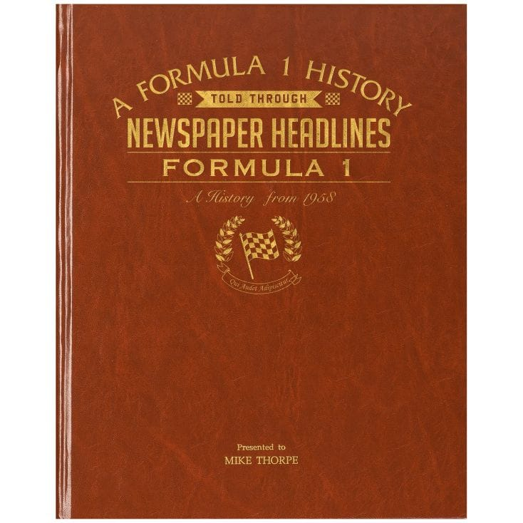 Personalised History of Formula 1 Book
