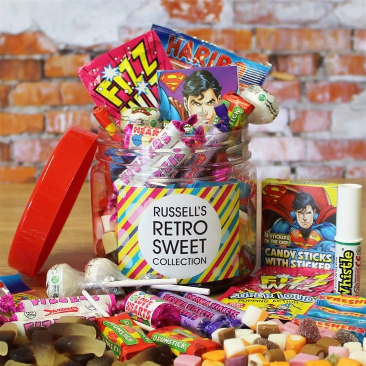 Personalised Retro Sweet Taster Jar