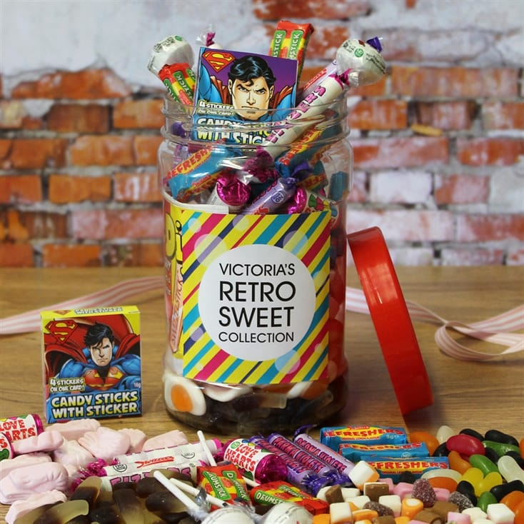 Personalised Retro Sweets Jar - Small