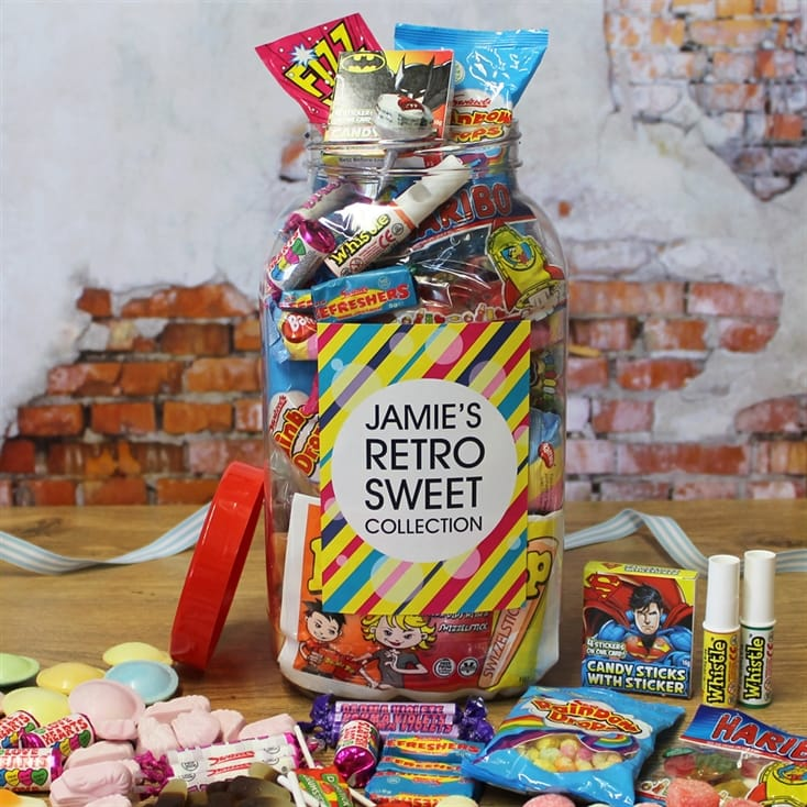 Personalised Retro Sweets Jar - Large