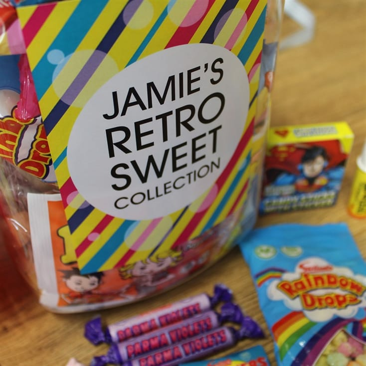 Small Personalised Retro Sweets Jar