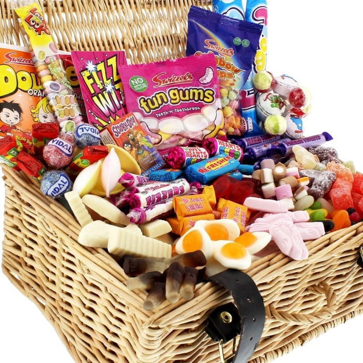Personalised Retro Sweets Hamper
