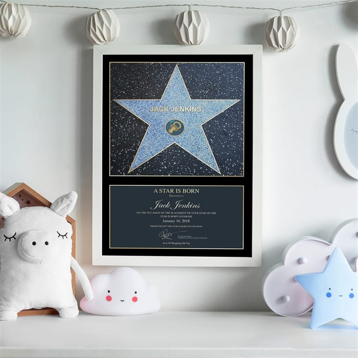 Personalised A Star Is Born Baby Award Poster