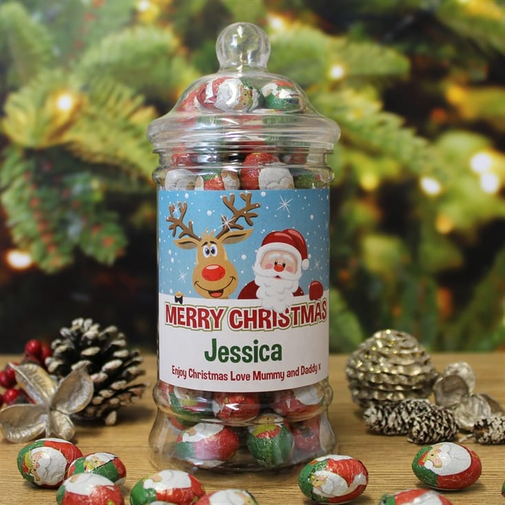Personalised Christmas Sweet Jars