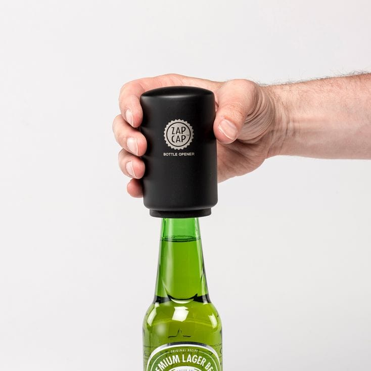 Black Zap Cap Bottle Opener