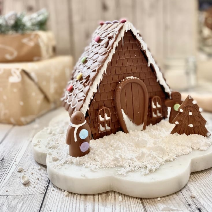 Decorate Your Own Chocolate Christmas House