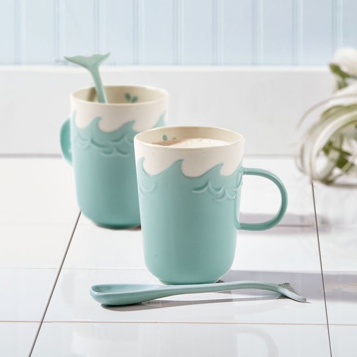 mug and whale stirrer