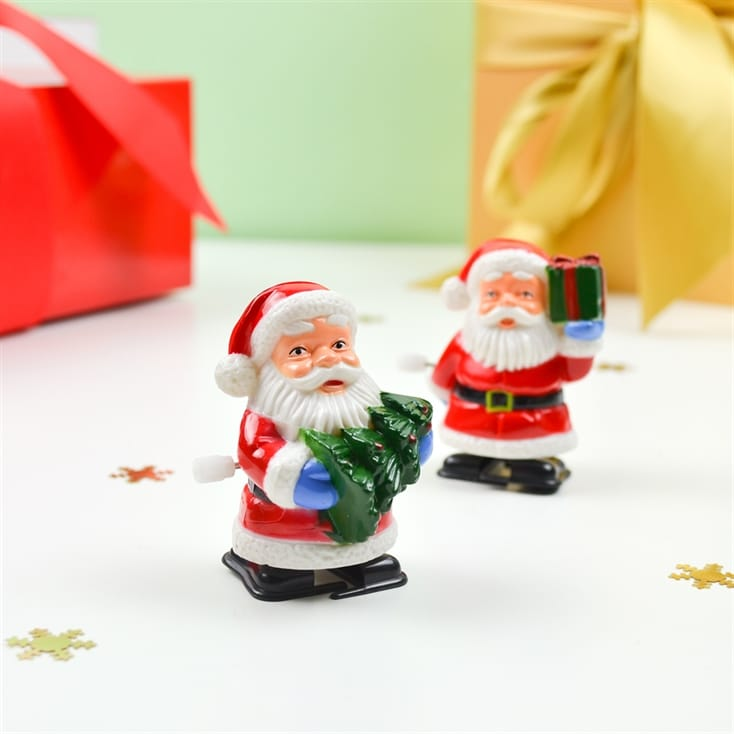 Racing Santas Wind Up Toys