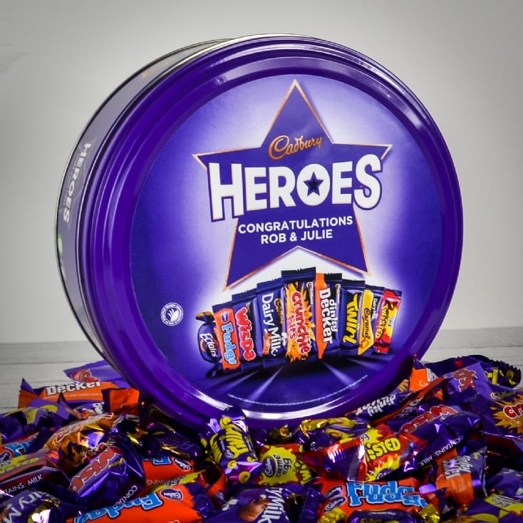 Personalised Cadbury Heroes Tin