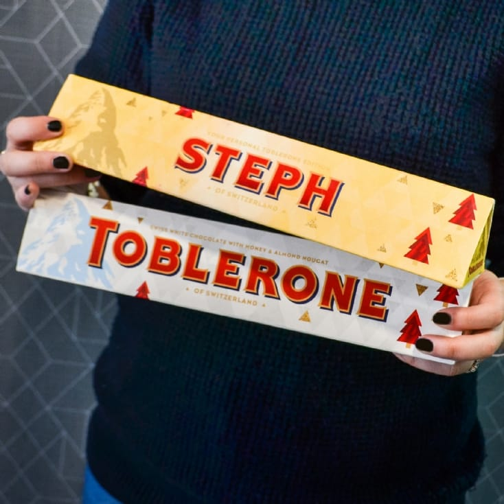 Personalised Toblerone Christmas Edition