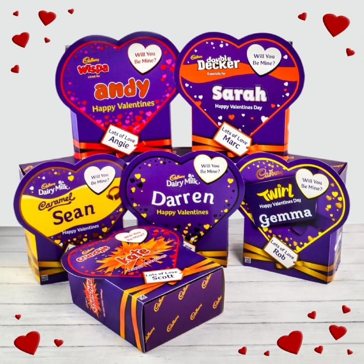 Personalised Cadbury Valentine's Chocolate Box