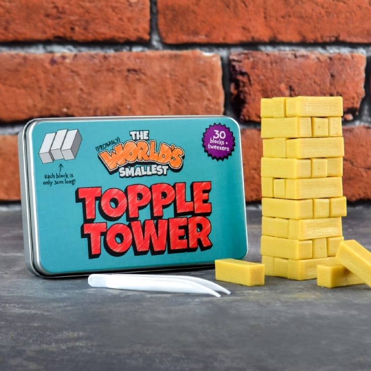 World's Smallest Topple Tower