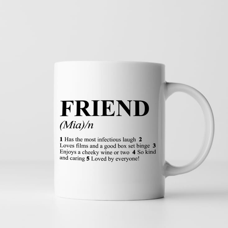 Personalised Friend Definition Mug