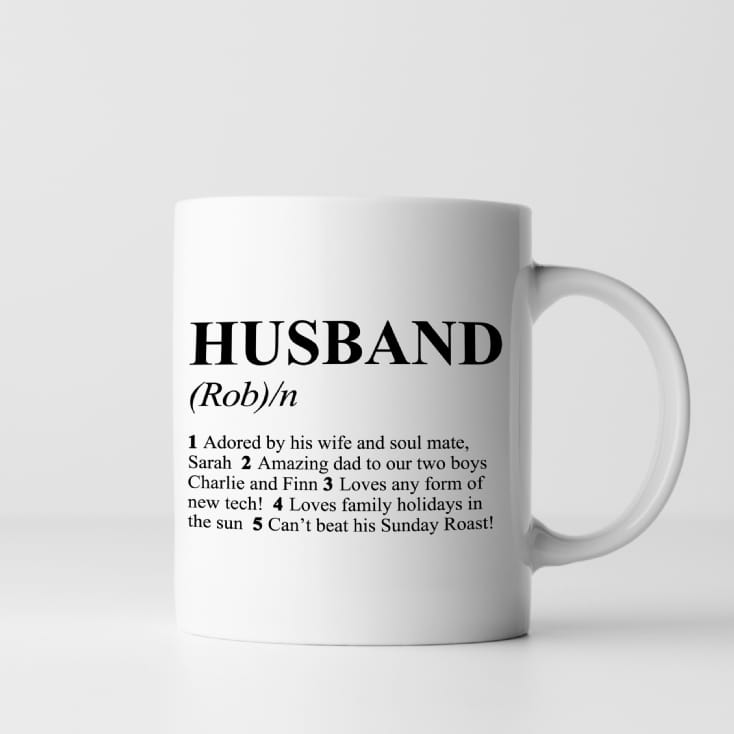 Dictionary Definition Personalised Husband Mug