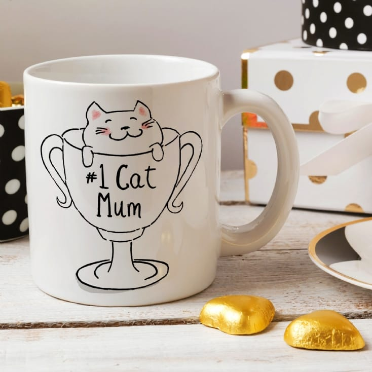 No 1 Cat Mum Mug