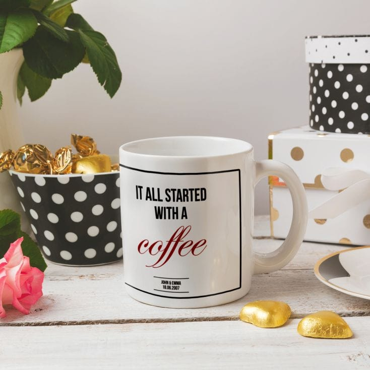 'It All Started With A' Personalised Mug