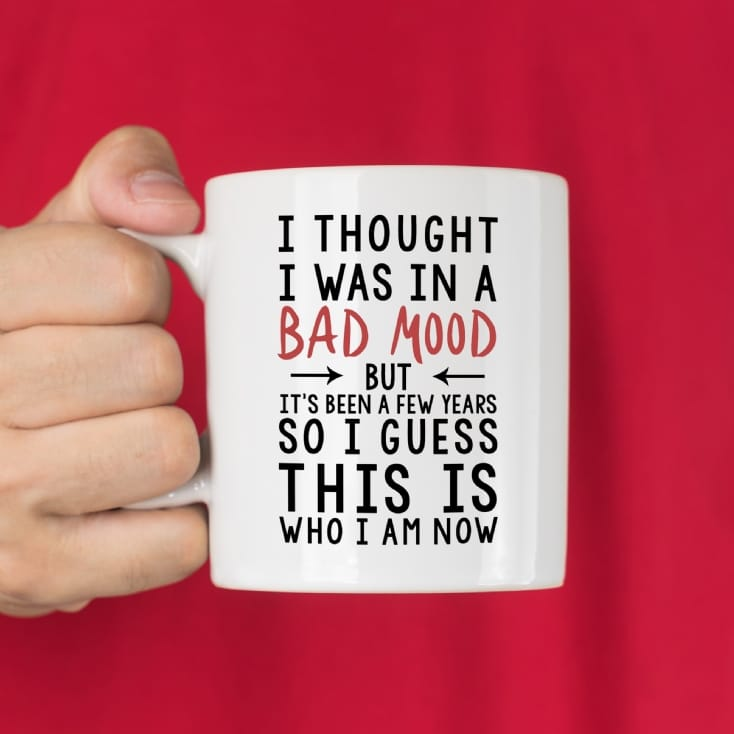 I Thought I Was In A Bad Mood Mug