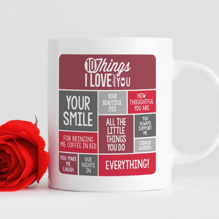 Personalised 10 Things I Love About You Mug