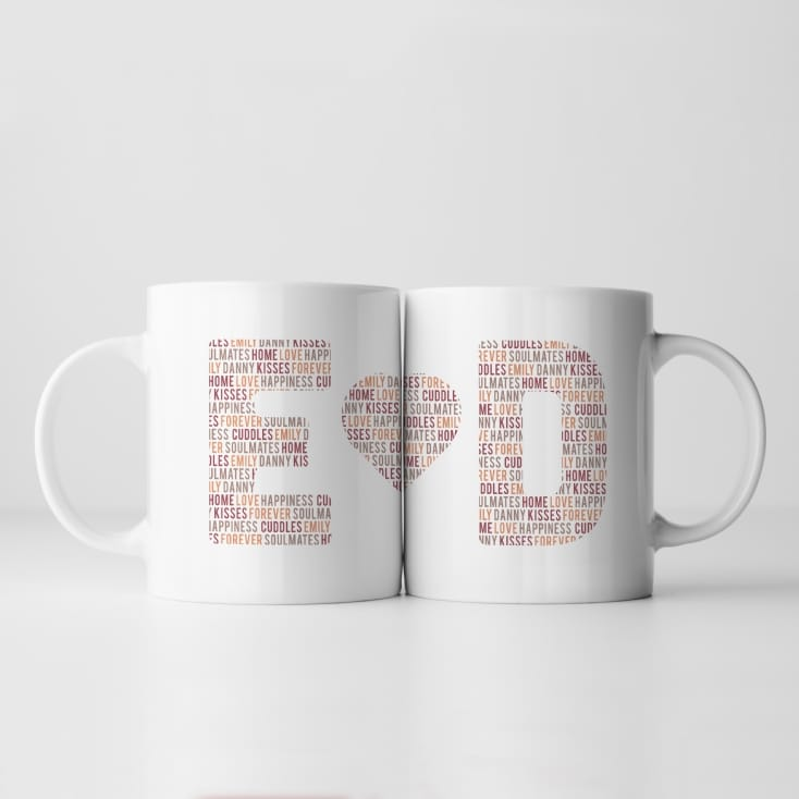 Personalised Couples Letter Mug
