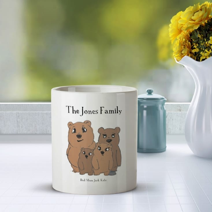 Personalised Bear Family Mug