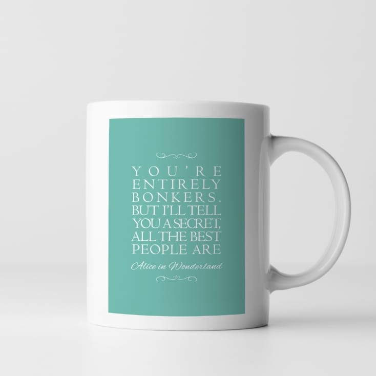 Personalised Favourite Inspirational Quote Mug