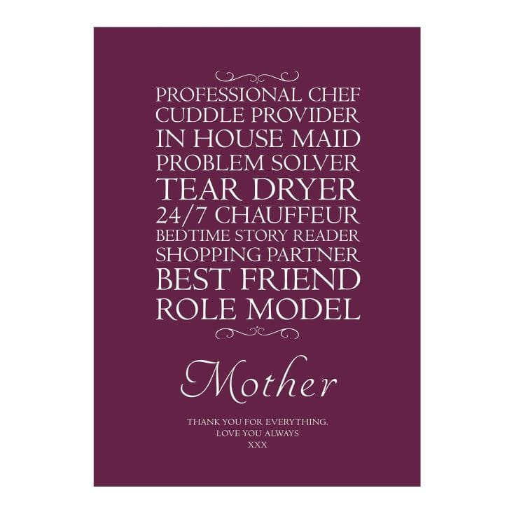 Typographic Mother Print