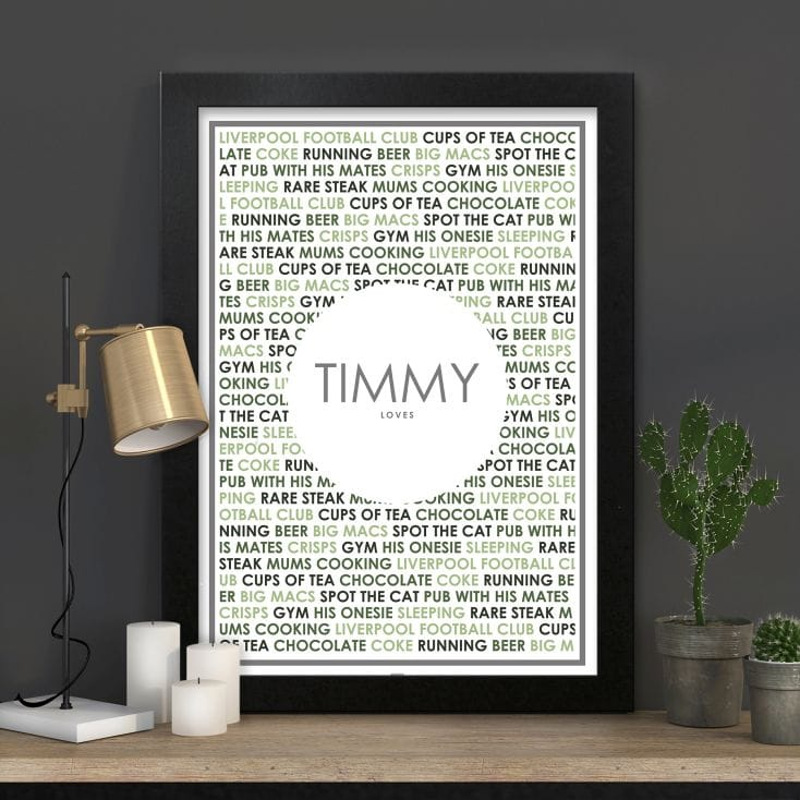 personalised loves print
