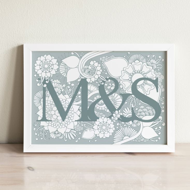 personalised couples colouring poster
