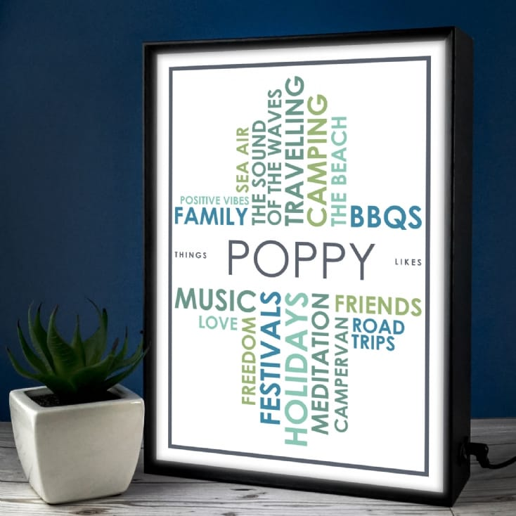 Personalised Light Box - Likes