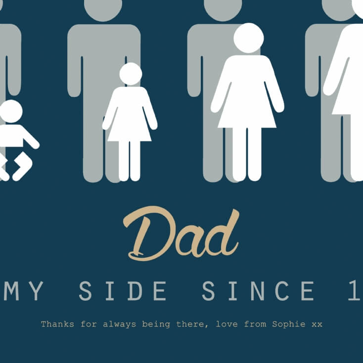 Personalised Dad By My Side Light Box