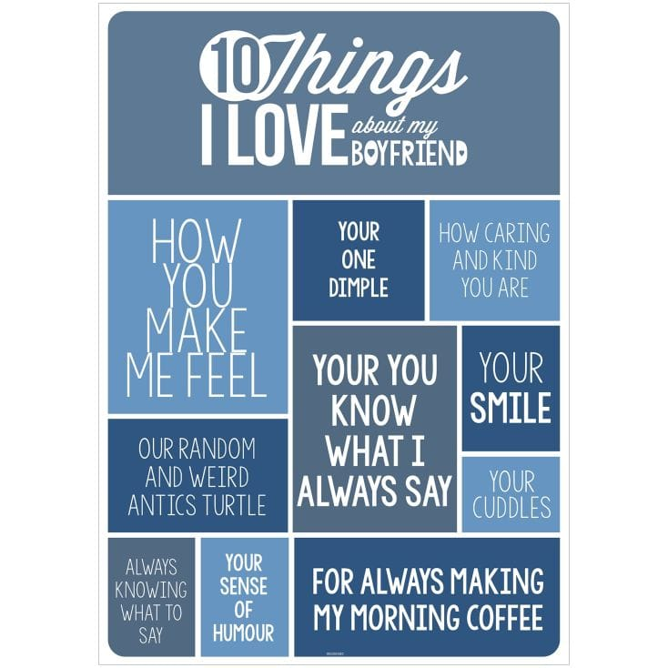 10 Things I Love About My Boyfriend Poster