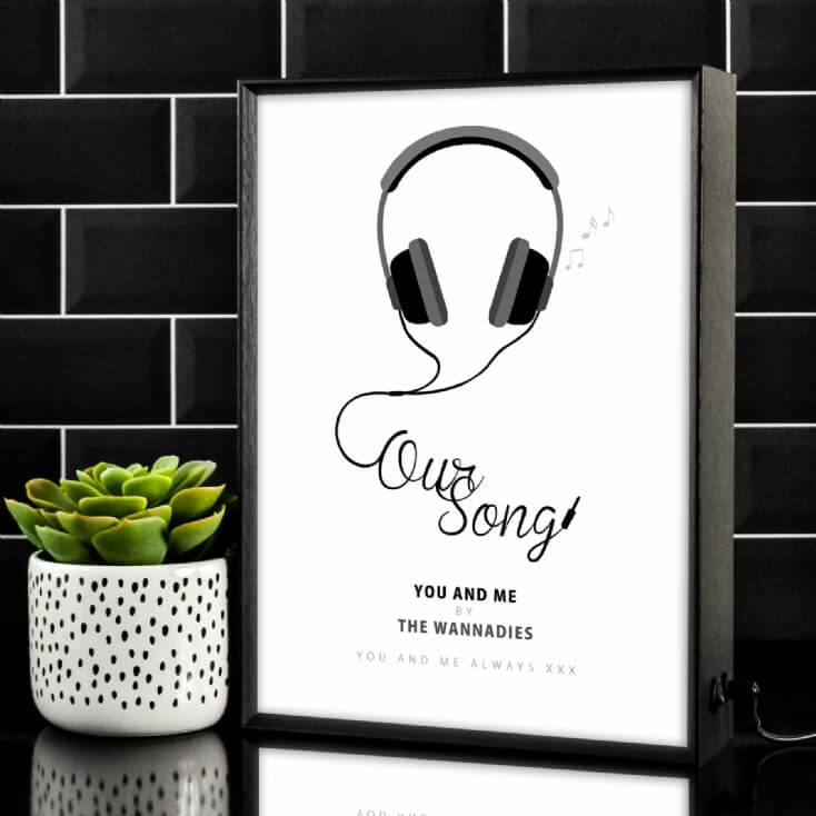 Our Song Personalised Light Box