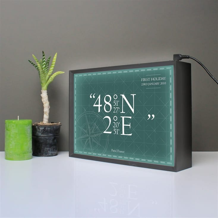 Personalised Coordinates Light Box