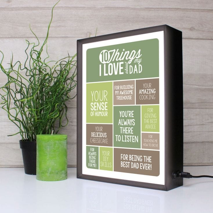 10 Things I Love About Dad Light Box