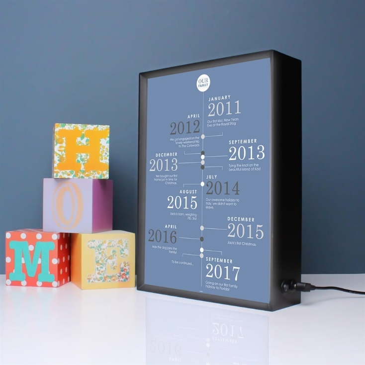 Our Family Personalised Timeline Light Box