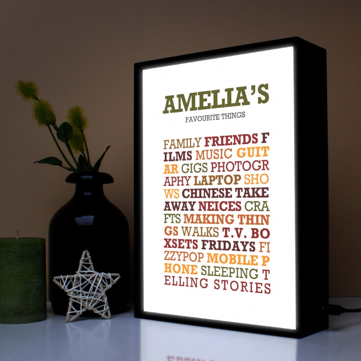 Personalised Favourites Lightbox